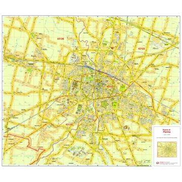 Mappa della Città di Parma con CAP