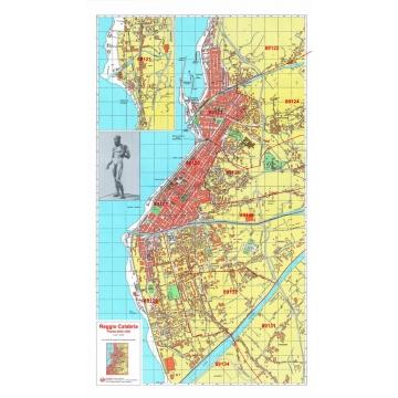 Reggio Calabria Cartina Geografica.Mappa Della Citta Di Reggio Calabria Con Cap