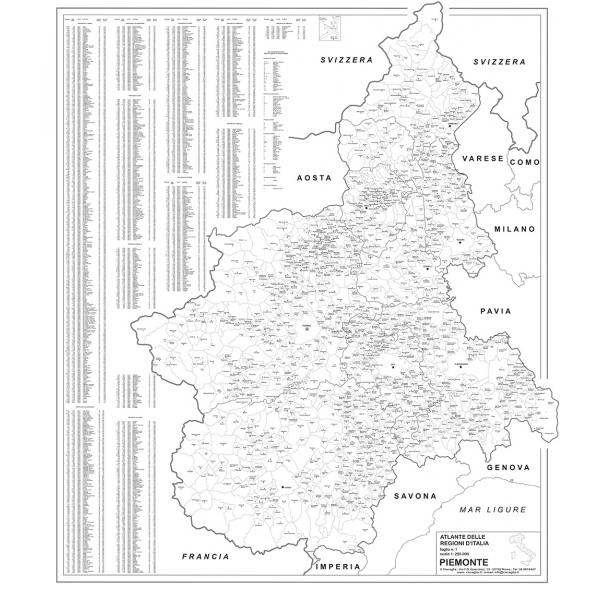 Cartina Regione Piemonte.Regione Piemonte