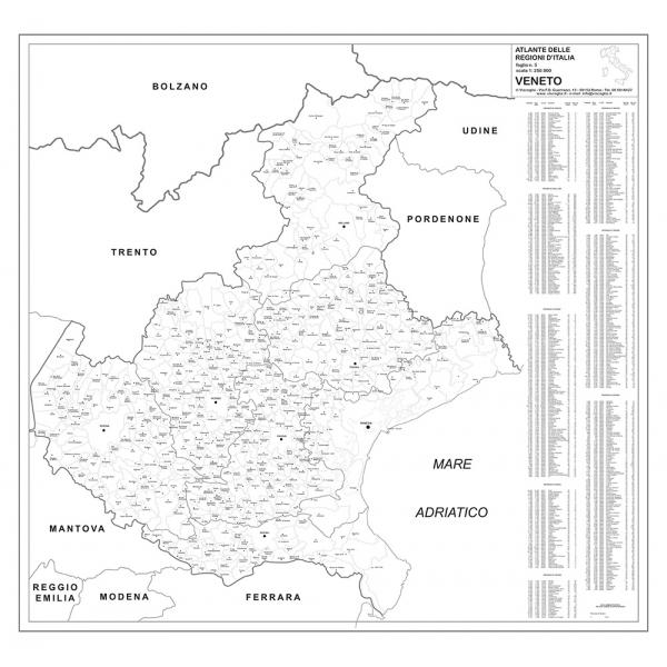 Cartina Veneto Comuni.Regione Veneto Con Cap