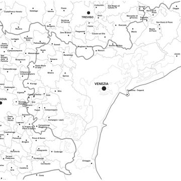 Cartina Politica Regione Veneto.Regione Veneto Con Cap