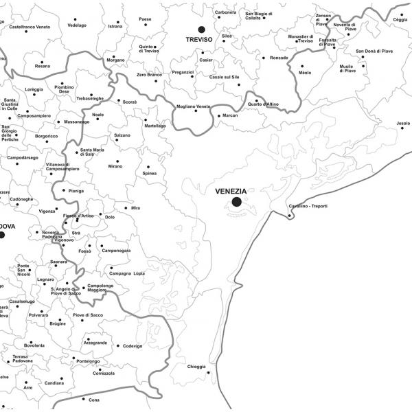 Cartina Della Regione Veneto.Regione Veneto Con Cap