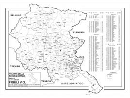 Carta geografica Regione Friuli Venezia Giulia