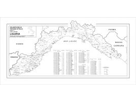 Carta geografica della Regione Liguria