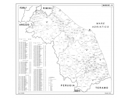 Map of Marche with postal codes