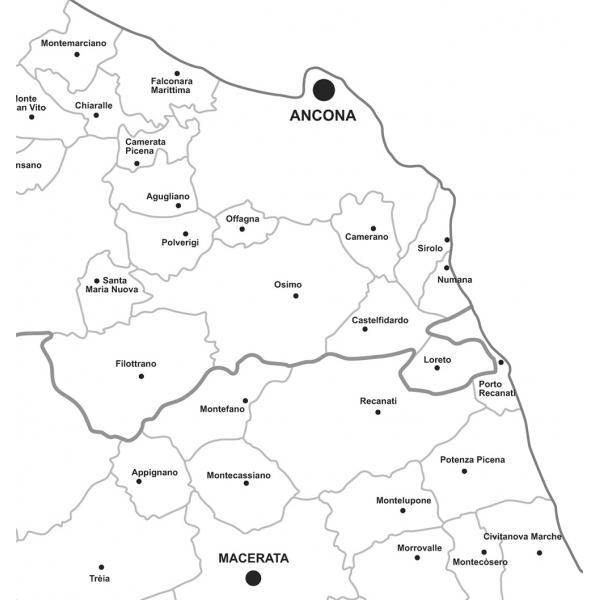 Cartina Stradale Civitanova Marche.Regione Marche Con Cap