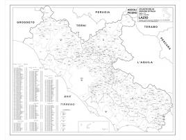 Carta geografica della Regione Lazio