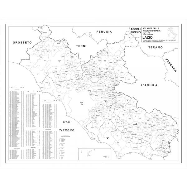 Cartina Lazio.Regione Lazio Con Cap