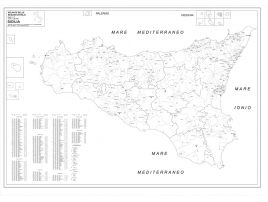 Carta geografica della Regione Sicilia
