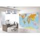Carta geografica del mondo politica a colori