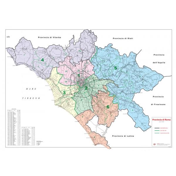 Provincia Di Roma Cartina Geografica.Provincia Stradale Di Roma