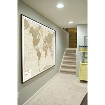 Carte geografiche antiche e moderne da parete, un idea originale d'arredamento