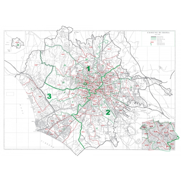 Cartina Roma E Provincia.Comune Di Roma