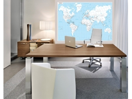 Carta geografica del mondo amministrativa, stampata a due colori