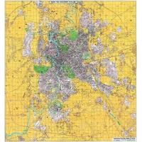 Planimetria di Roma a colori