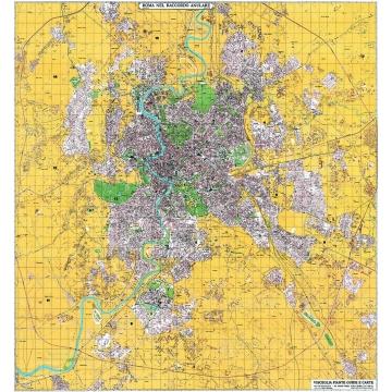 Carta geografica di Roma