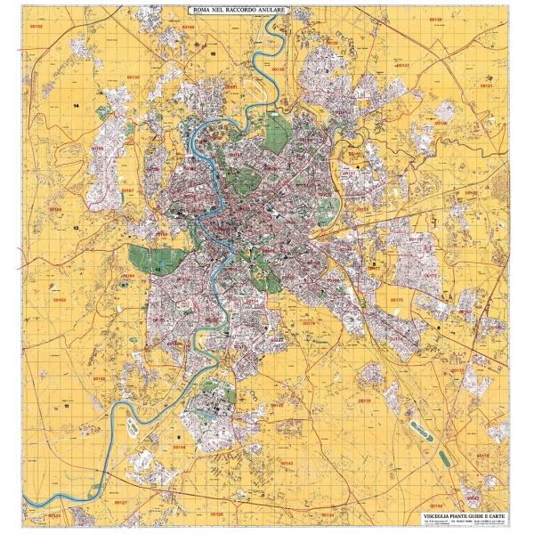 Cartina Roma Turistica.Planimetria Di Roma A Colori Con Cap