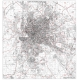 Planimetria di Roma in bianco e nero CAP