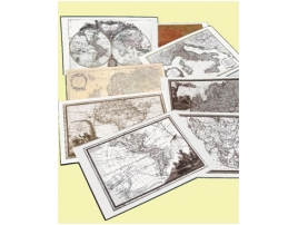 Tovagliette americane con carte geografiche