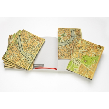 Quaderni di viaggio con cartine geografiche stampate