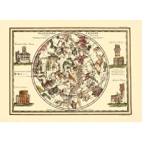 Carta antica del Planisfero Celeste Settentrionale 1790