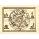 Carta geografica antica del Planisfero Celeste Settentrionale 1790