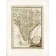 Antique map of India