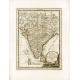 Carta geografica antica dell'India del 1797