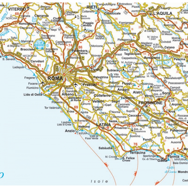 Cartina Stradale Di Italia.Cartina Geografica Dell Italia Stradale Visceglia Carte E Mappe Geografiche