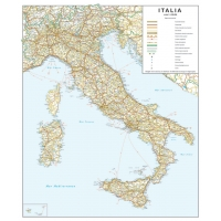 Road map of Italy