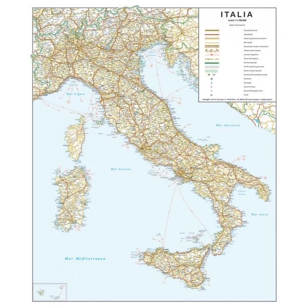 Www Cartina Stradale Italia.Cartina Geografica Dell Italia Stradale Visceglia Carte E Mappe Geografiche
