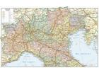 Carta geografica dell'Italia politico stradale settentrionale
