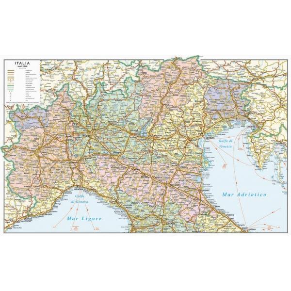 Italia politico stradale nord for Carta da parati cartina geografica