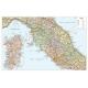 Carta geografica dell'Italia politico stradale centrale