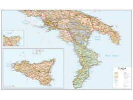 Political road map of southern Italy