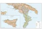 Carta geografica dell'Italia politico stradale meridionale