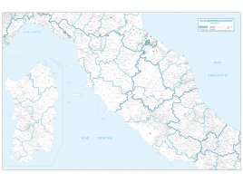 Administrative map of central Italy