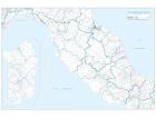 Carta geografica dell'Italia amministrativa Centrale