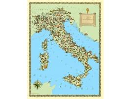 Carta geografica dell'Italia tematica