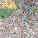 Planimetria di Roma a colori particolare