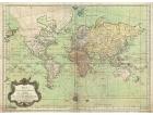 Carta geografica antica del Mondo 1778