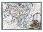 Carta geografica antica dell'Asia 1788