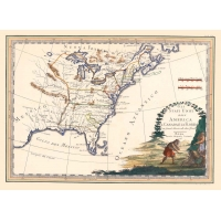 Antique map of Canada , United States and Florida,second sheet
