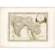 Carta geografica antica delle Indie Orientali 1797