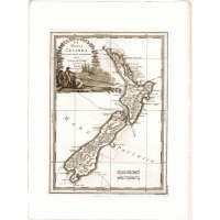 Carta antica della Nuova Zelanda 1798