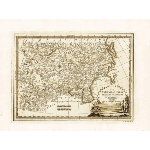 Cartina Geografica Della Cina.Carta Antica Della Tartaria Cinese 1798