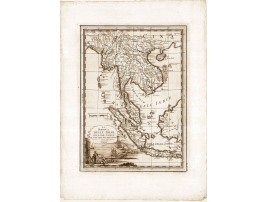Carta geografica antica della Penisola delle Indie 1797
