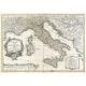 Carta geografica antica dell'Italia 1770