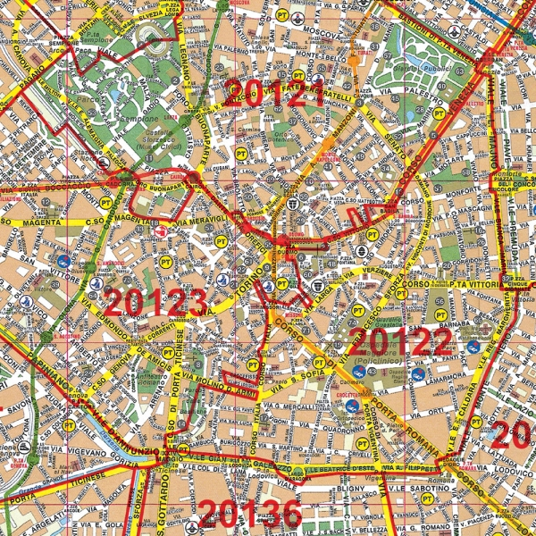 Cartina Cap Germania.Codici Postali Mappa Cap Milano Citta