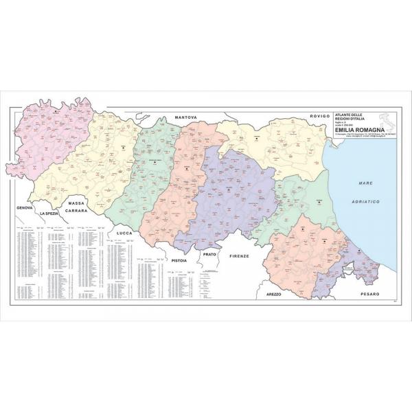 Cartina Topografica Emilia Romagna.Regione Emilia Romagna Con Cap